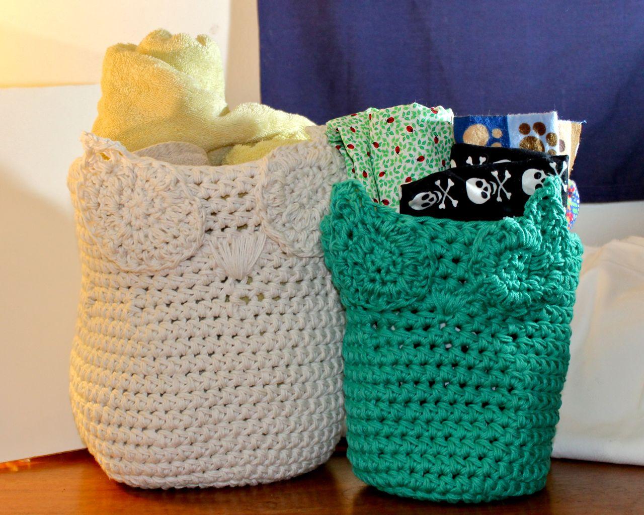 Owl Basket- Crochet Pattern Review